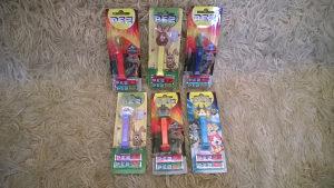 Pez figurice u kutijama sa bombonama (lot 6 pezova)