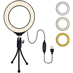 LED USB light selfie ring, tripod, bluetooth remote