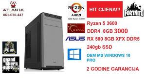 Ryzen 5 3600 RX 580 8GB 240gb ssd 8 gb ddr4 gamer rx580