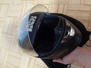 IXS kaciga sa vizirom XS mat crna fullface zatvorena