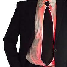 Led kravata sa svjetlom crvene boje više načina
