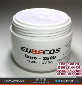 Euro 2600 sculpting gradivni UV gel za nokte
