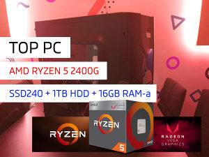 AKCIJA!  Kompjuter Ryzen 5 240SSD 16GB RAM