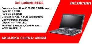 Dell Latitude E6430 Core i5 3rd gen. sa NOVOM BATERIJOM