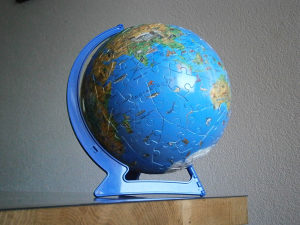 Puzle puzzle globus, 20cm, sa postoljem, ČEŠKA