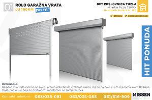Garažna vrata - Rolo (160KM/m2)