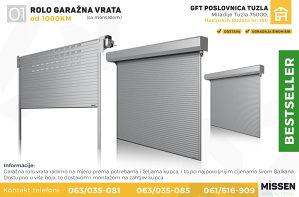 Garažna vrata - Rolo (sa montažom)