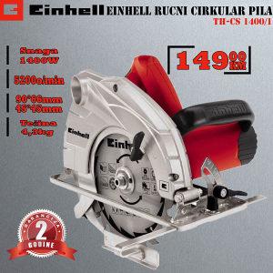 Einhell ručni cirkular pila TH-CS 1400/1