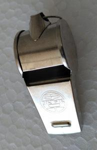 Zviždaljka pištaljka metalna nova