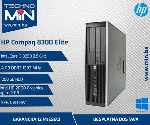 HP Elite 8300, i3 3250 3.5/4/250/DVD-RW/SFF