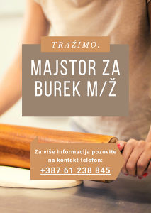 Posao - Majstor za Burek m/ž