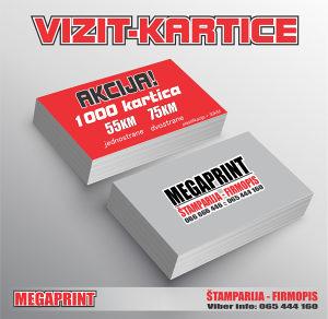 AKCIJA 1000 VIZIT-KARTICA 55KM // Vizitke
