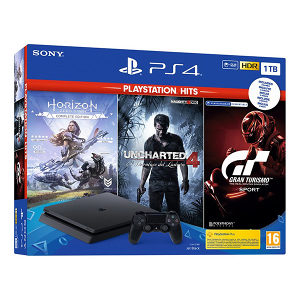 PlayStation 4 1TB PS4 konzola GT Sport HZD Uncharted 4