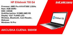 HP Elitebook 755 G4 AMD Pro A10-8730B