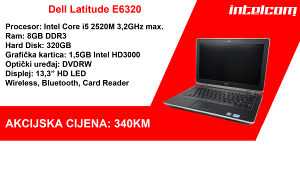 Dell Latitude E6320 Core i5 2nd gen.