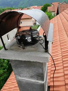 Ventilator za dimnjak rostilj napu kuhinju dim