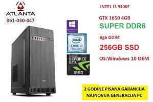 gaming pc i3 9100f gtx 1650 super 8gb ddr4 256gb ssd