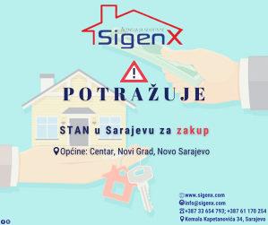 SIGENX potražuje: Stanove za zakup