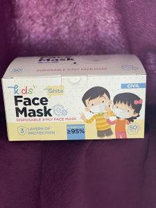 50kom Djecije zastitne maske troslojne maska za lice