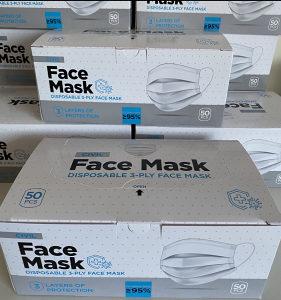 AKCIJA 50kom! Zastitne troslojne maske Maska za lice zastitn......