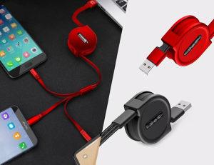 Sklopivi USB kabel 3 u 1, micro USB, 8 pin, USB C,...
