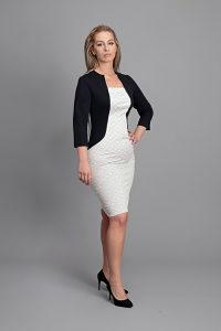 Ženska haljina ,Bolero vel 40, bijela