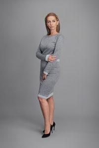 Ženska haljina Snježana, vel 40, siva