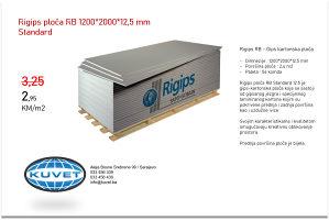 AKCIJA - Rigips ploča RB 12,5 mm, Knauf , Regips