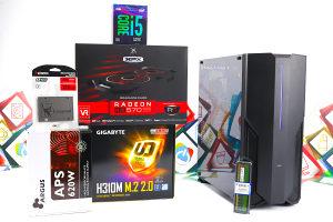 Gaming PC Iron 20; i5-9400F; RX 570; 120GB SSD; 8GB