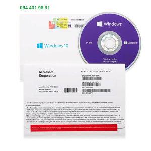 Microsoft Windows 10 Pro 64 DVD BOX Licenca original