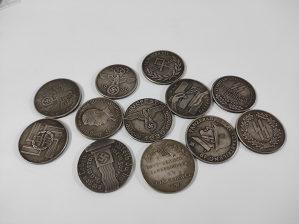 Novčići, kovanice,plaketa,WW2,Hitler,Nazi,Third Reich