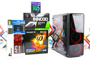 Gaming PC Aquarius 12; i5-9400F; GTX 1660Ti; SSD; 8GB