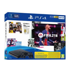 PlayStation 4 PS4 500GB 2x Dualshock FIFA 21 3D BOX