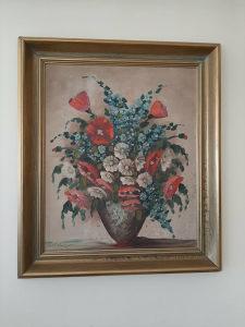 """Umjetnička Slika"""" Makovi """" Ulje na lesonitu š 65, v 75"""