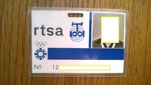 Olimpijska akreditacija RTSA - ZOI - Sarajevo 84