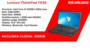 Lenovo ThinkPad T530 Core i5 3rd gen.
