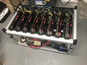 RIG MINING ETH 6x XFX Rx 5700XT 8GB DDR6