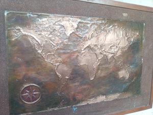Karta svijeta bakrorez
