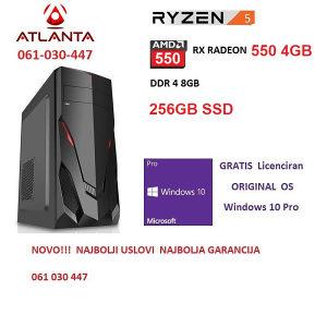 Ryzen 5 3600, RX 550 4GB, DDR4 8GB, računar gamer PC