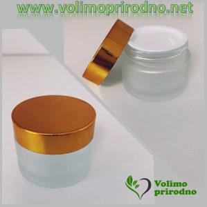 Kozmetička staklena kutija Gold 50ml