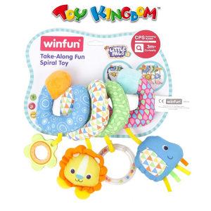 WINFUN Spiralna plisana igracka za krevetic/kolica