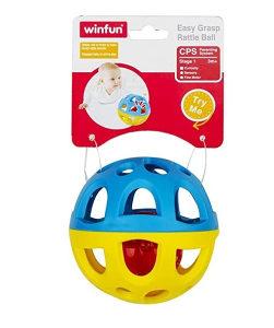 WINFUN Mekana gumena loptica zvecka za bebe
