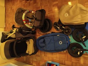 Kompletna Bugaboo kolica za bebe sa mnogo opreme