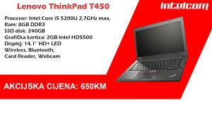 Lenovo ThinkPad T450 Core i5, 8GB DDR, 240GB SSD