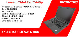 Lenovo ThinkPad T440p, 8 Gb RAM, SSD 240 Gb
