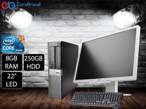 "Komplet računar i7 sa 8GB RAM i LED 22"" monitorom"