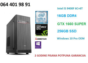 i5 9400f gtx 1660 super 16gb ram 256gb ssd gaming pc