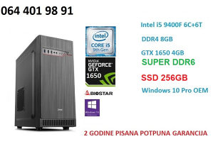 NOV i5 9400f računar gamer PC 16GB DDR4 GTX 1650 SUPER