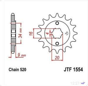 Prednji lančanik JTF 1554.13 13 zub 520 korak
