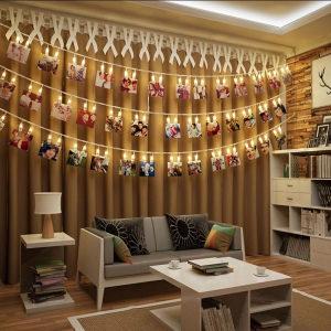 LED dekoracije, štipaljka svijetlo, foto lampice